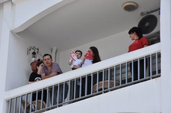 April 23 Music enjoyed by Girne residents from their Balconies (3)