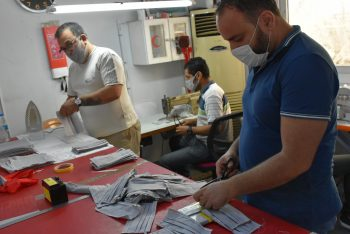 Girne Municipality Produces It's Own Masks (1)