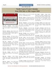 Newspaper calendar