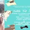 Charlie and the table top sale in aid of iskeli Dog shelter