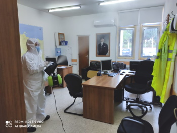 Girne Municipality continues its COVID -19 Spraying Works (1) - Copy