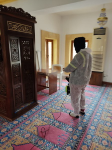 Mosques in Girne disinfected against COVID-19 before Ramadan (7)