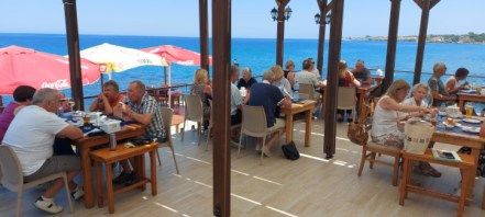 Time to relax by the sea and have lunch