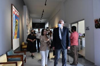 Girne Mayor Nidai Güngördü Visited BRT Publishing History Museum (2)