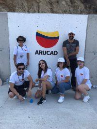 ARUCAD paints CIKLOS junction walls on the Girne Lefkosa road (1)