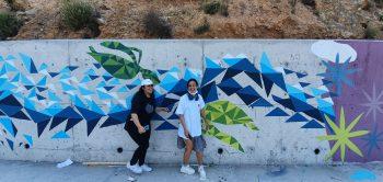ARUCAD paints CIKLOS junction walls on the Girne Lefkosa road (4)