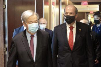 President Ersin Tatar met with Antonio Guterres in New York (2)