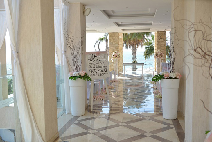 Beautiful Floral Wedding at Alexander the Great in Paphos