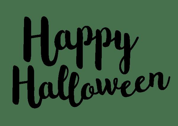 Happy halloween text black