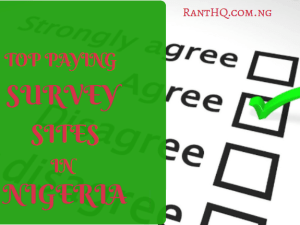 TOP 10 ONLINE PAID SURVEY SITES IN NIGERIA 2020