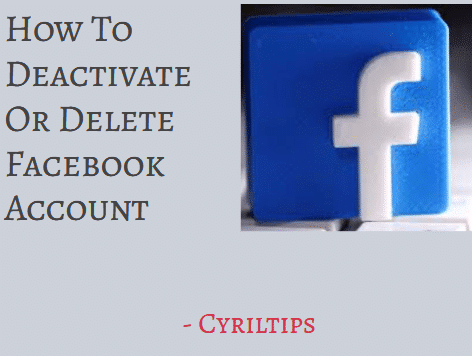 How To Deactivate Facebook Account In 5 Easy Steps (2020)