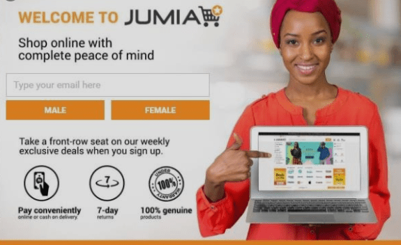 jumia homepage for buy now pay later