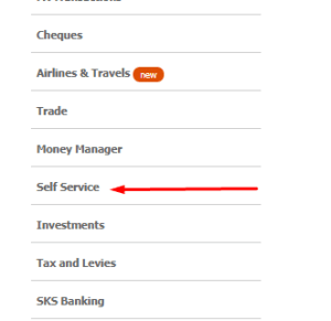 gtbank self service on internet banking