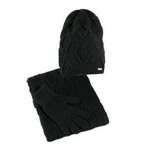 czapka-bez-pompona-komin-rekawiczki-czarny