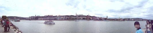 Výhled na Budínský zámek a Rybářskou baštu