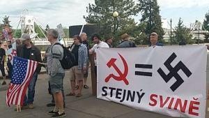 CZECH COMMUNISTS EQUAL NAZIS