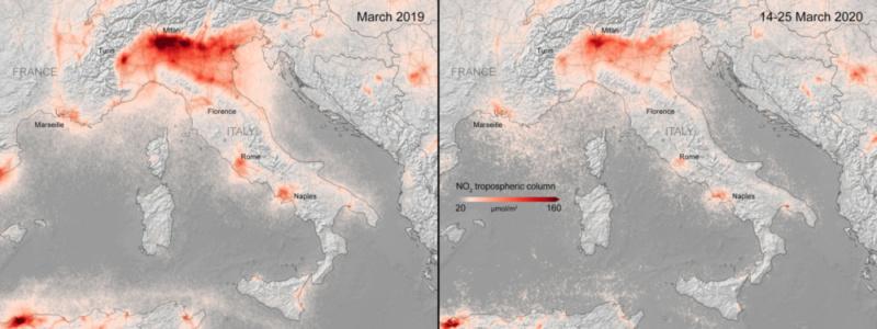 Europe's air quality improves amid coronavirus lockdown - Czech Points