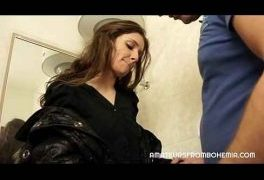 Horny Couple Lock Themselves in Bathroom – Amateurs From Bohemia