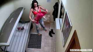 Nice College Babe Tanning Naked Caught on Camera – Czech Solarium