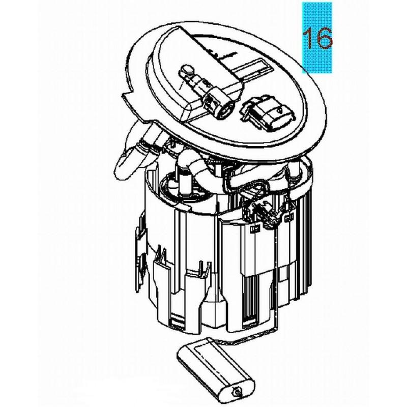 Pompa paliwa, Astra II, Corsa C, Tigra B : 1.0, 1.2, 1.4
