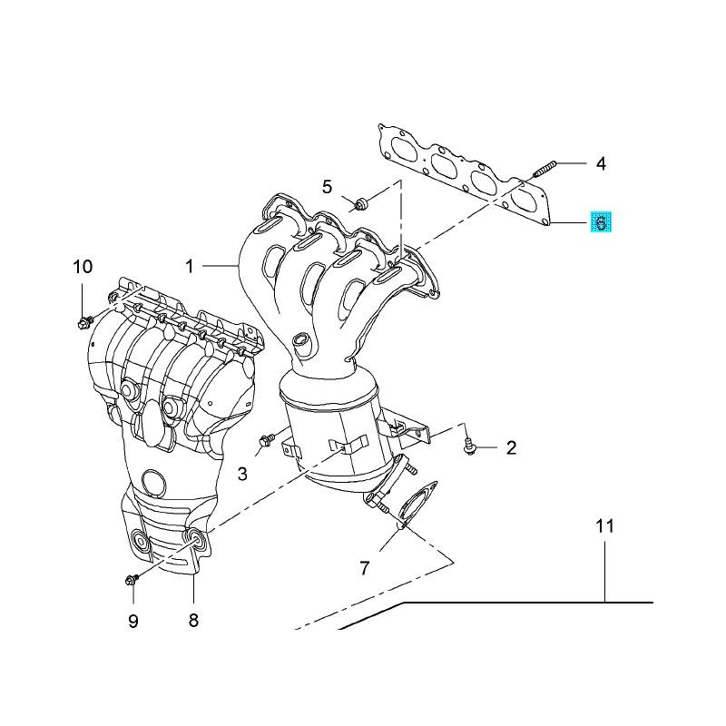 Uszczelka kolektora wydechowego (1.6,1.8) VECTRA C/ZAFIRA