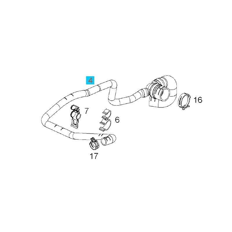 Przewód, wąż, wylotowy chłodnicy wody, trójnik GM13118272