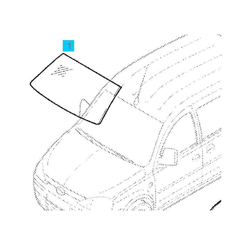 Szyba przednia, czołowa zabarwiona GM93188124 (Opel Combo
