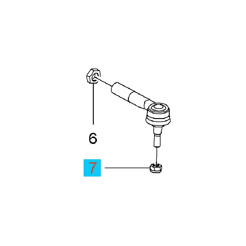 Nakrętka sześciokątna M10 końcówki drążka kierowniczego