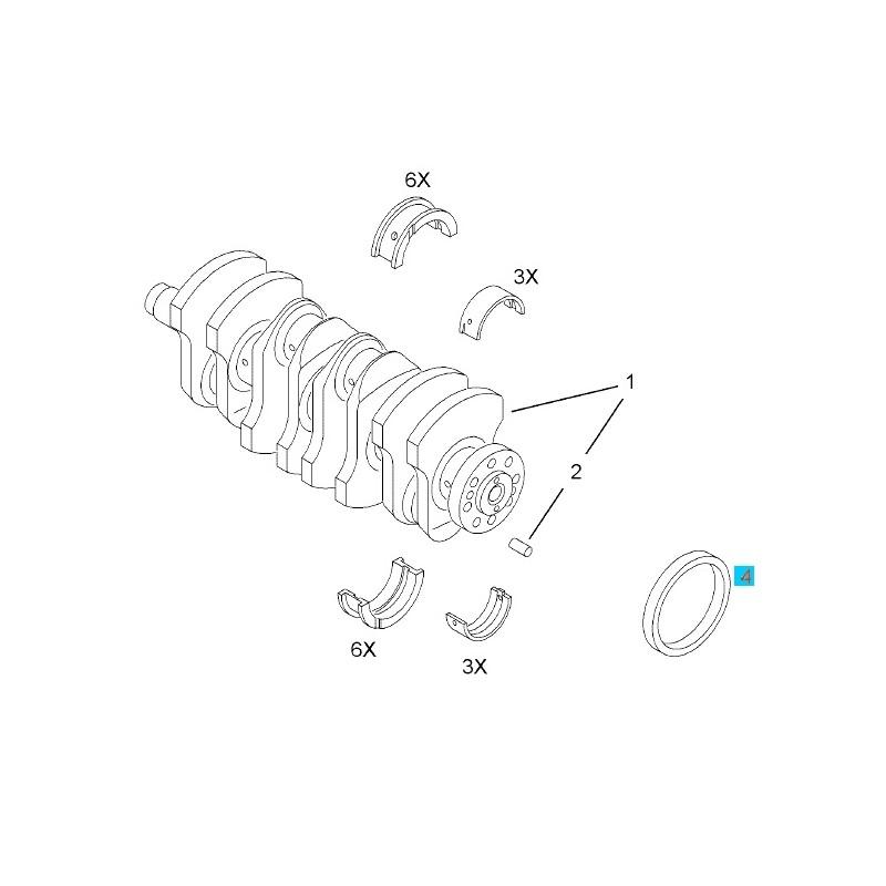 Uszczelniacz olejowy wału korbowego tył GM55180937 (Opel