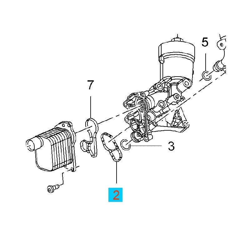 Uszczelka obudowy chłodnicy oleju GM55568539 (Opel Adam