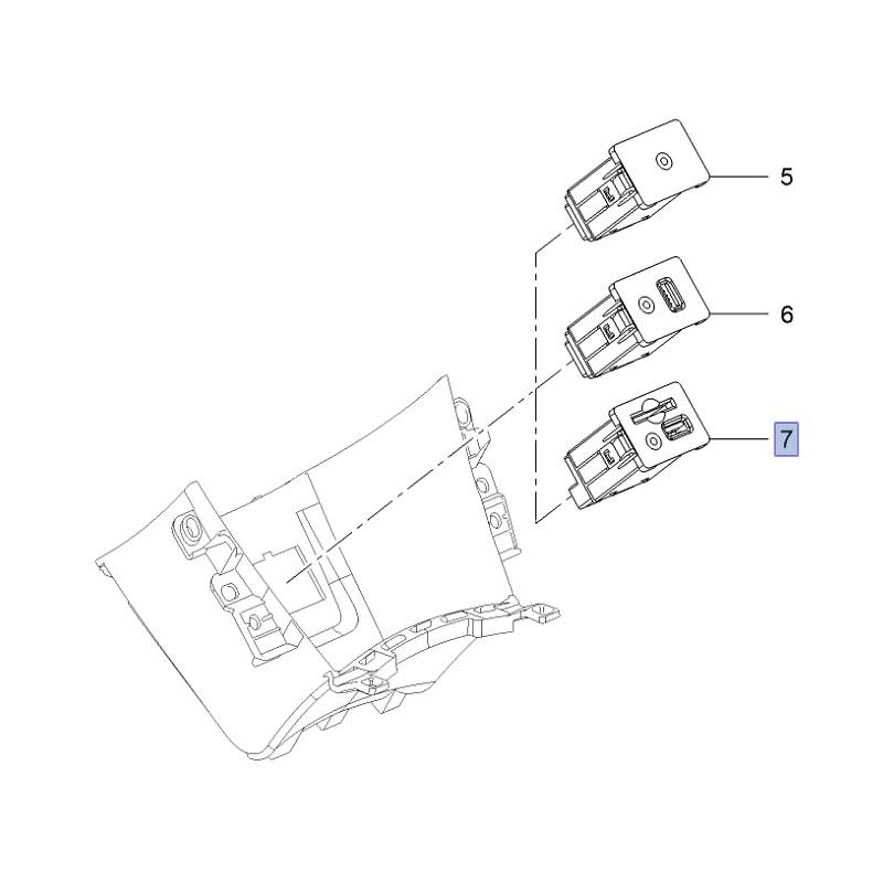Przyłącze pomocnicze (socket) radioodbiornika, gniazda SD