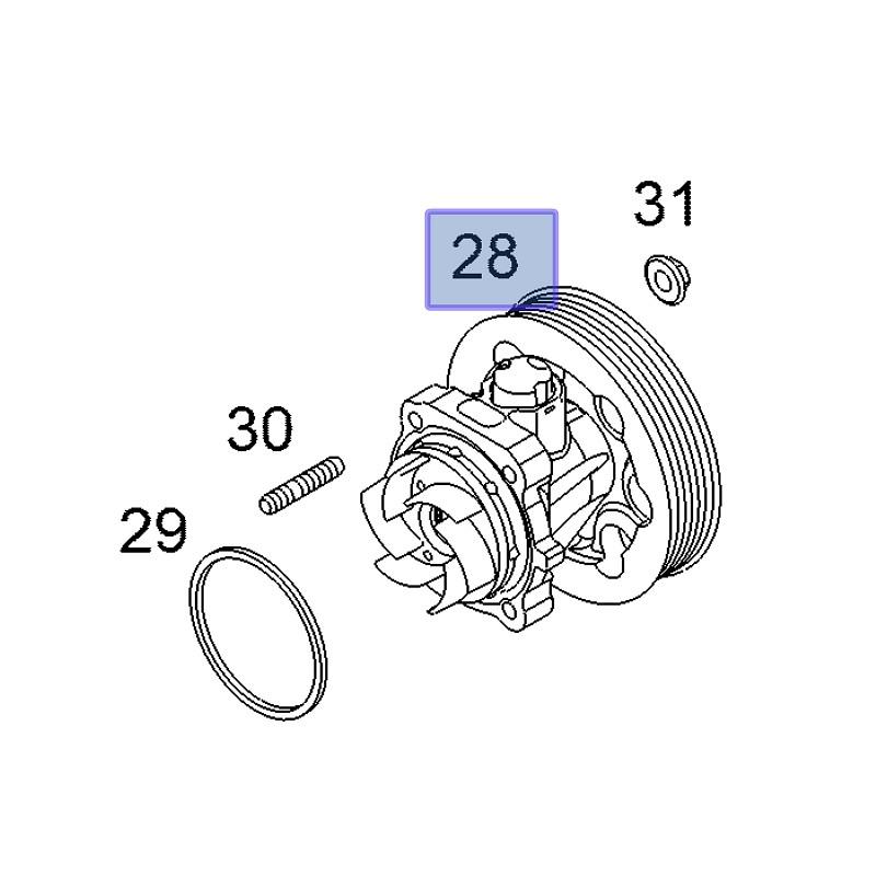 Pompa wodna 12855462 (Astra H,J, Agila B, Corsa D,E, Combo