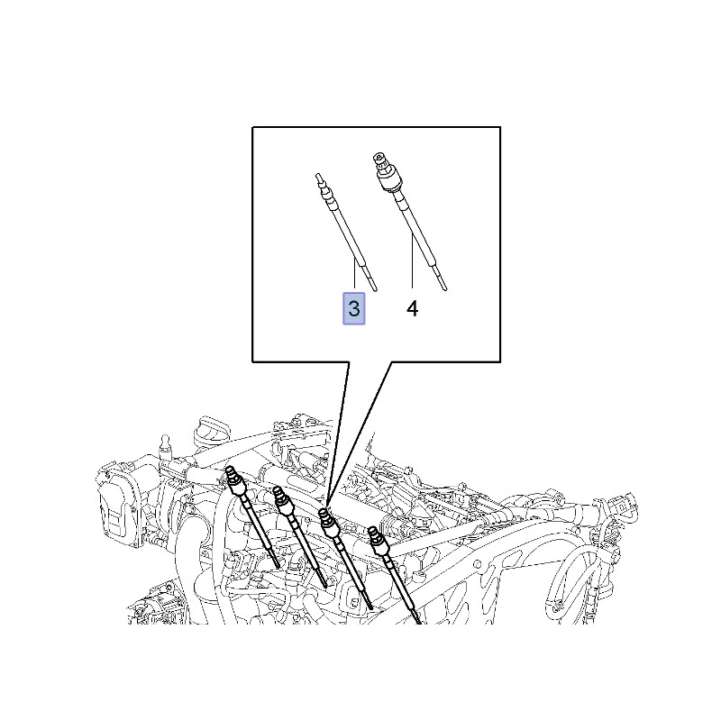 Świeca żarowa 2.0 Diesel 55564162 (Astra J, Insignia
