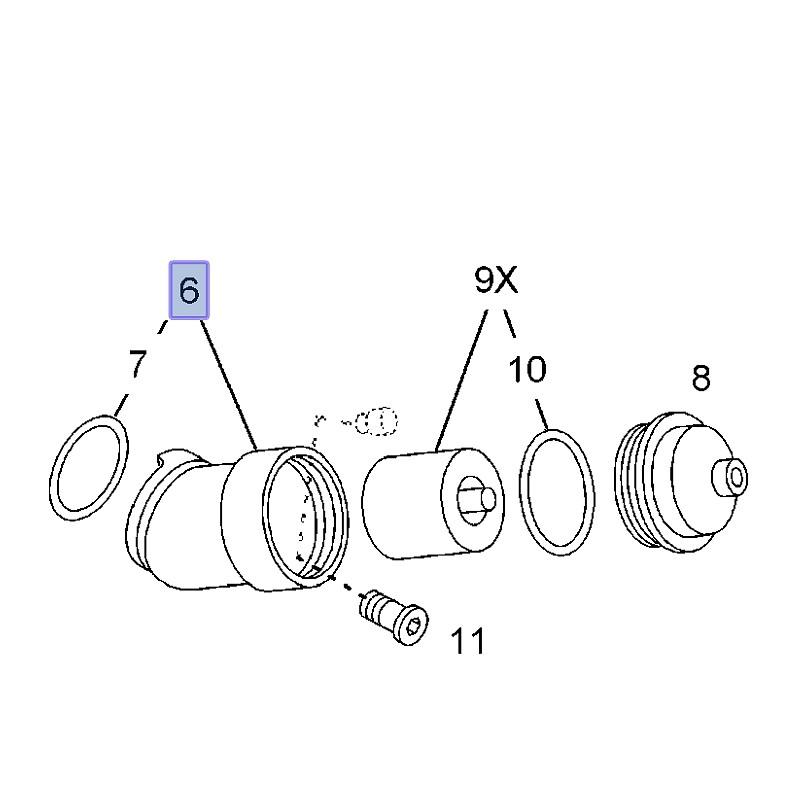 Obudowa filtra oleju Z18XE, Z18XE1, Z18XEL 90543941 (Astra