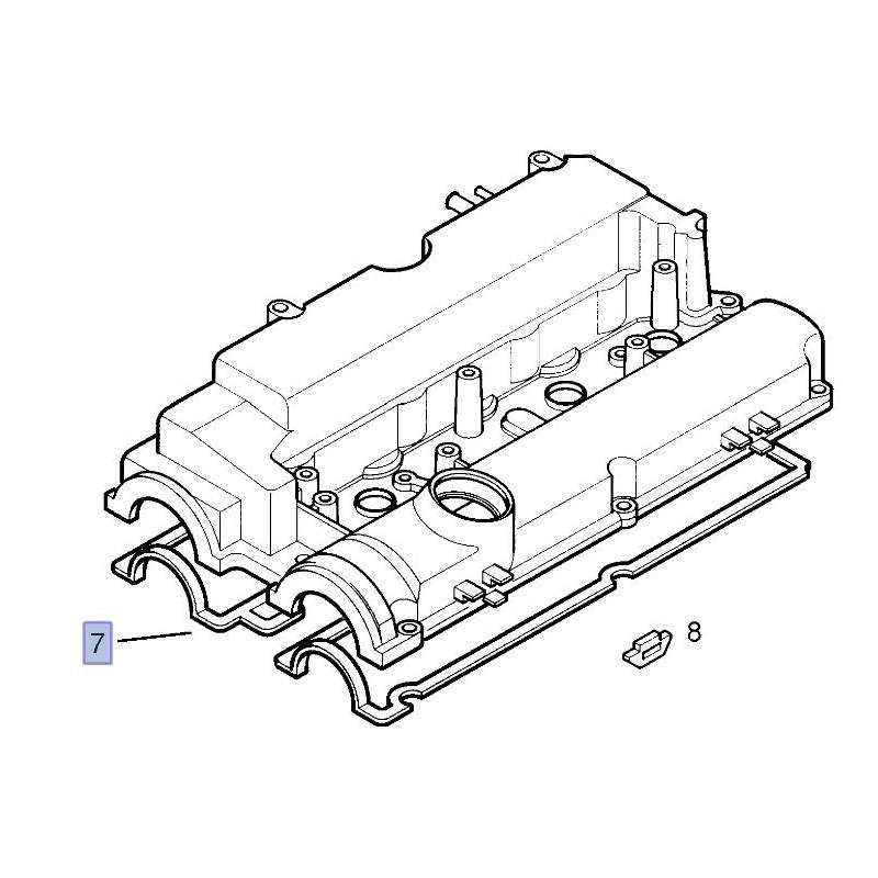 Uszczelka pokrywy zaworów Z18XE 90536414 (Astra G,H, Corsa