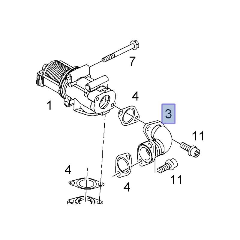 Przewód, rurka zaworu EGR Z19DTL, Z19DT 93178884 (Astra H