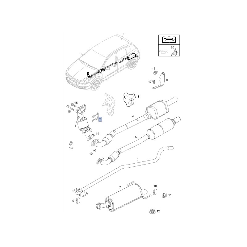 Uszczelka turbosprężarka / katalizator 55350276 (Astra H