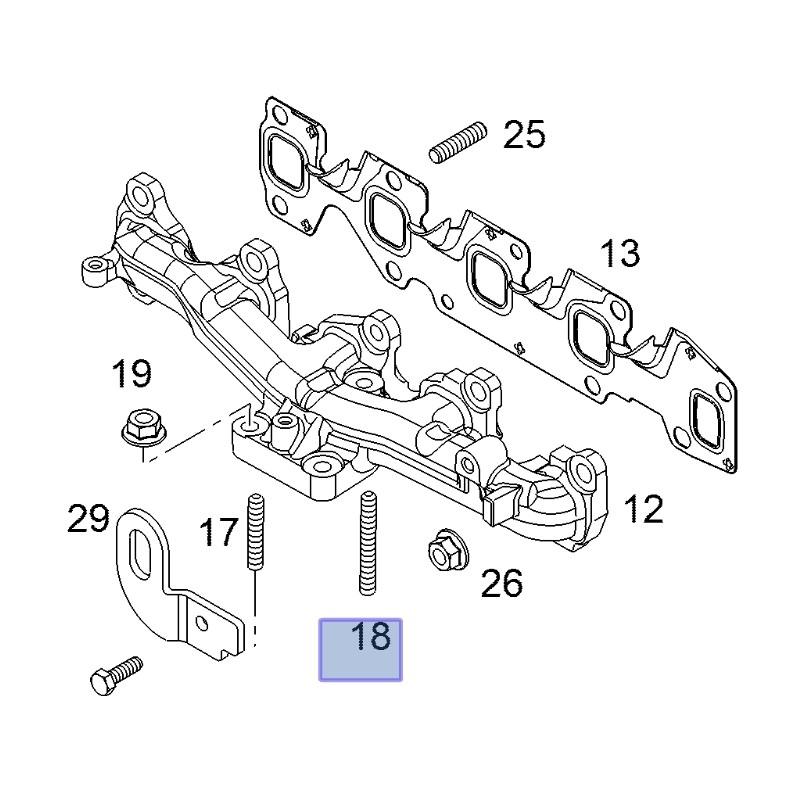 Wkręt, śruba kolektora wydechowego 93177410 (Astra H