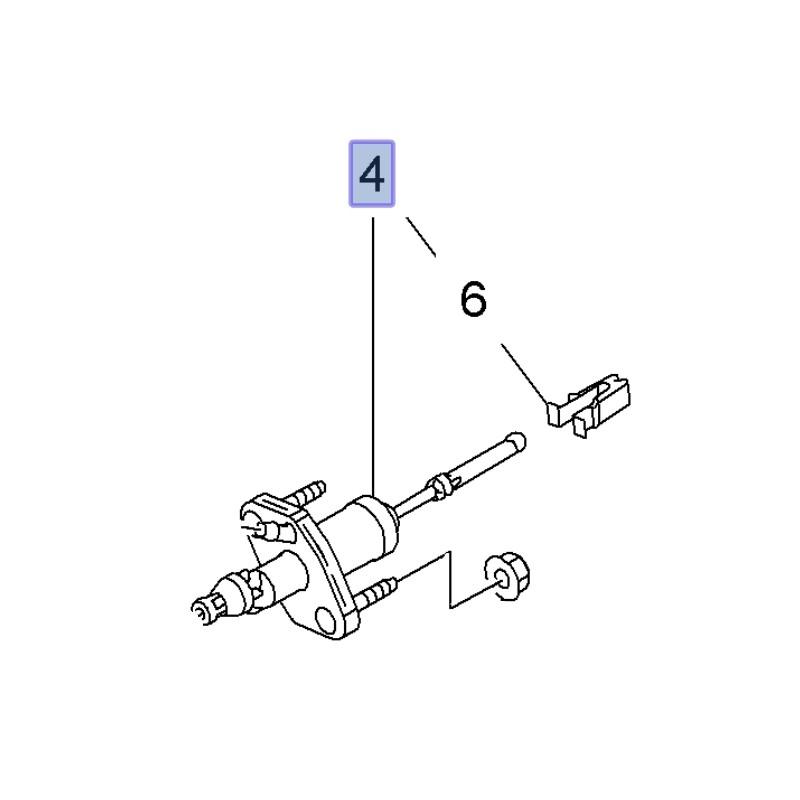 Pompa sprzęgła 55561915 (Astra J, GTC, Insignia A, Zafira
