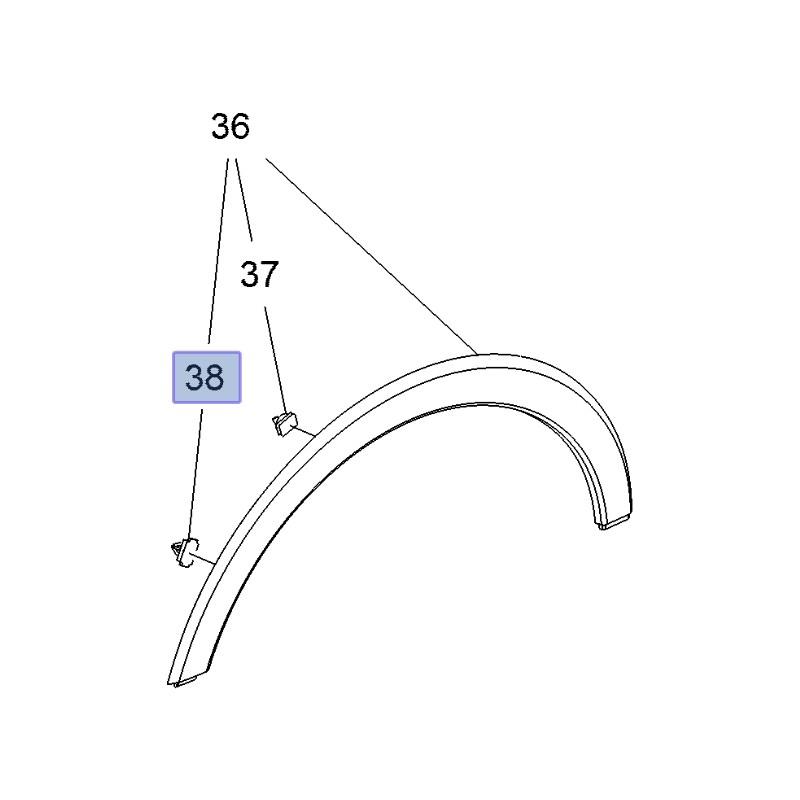 Spinka listwy nadkola 11588818 (Ampera-e, Crossland X