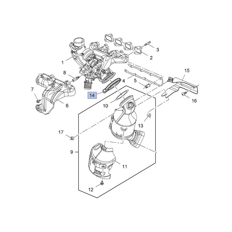 Łącznik rur, układu wydechowego 55565351 (Adam, Astra J