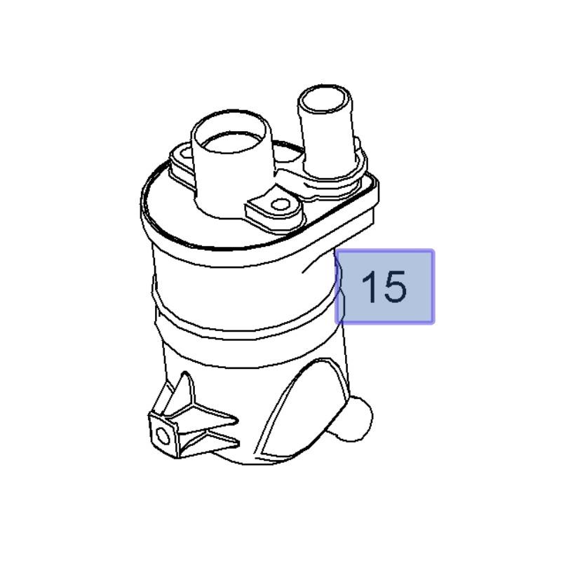 Separator, oddzielacz oleju 55217795 (Astra H, Signum