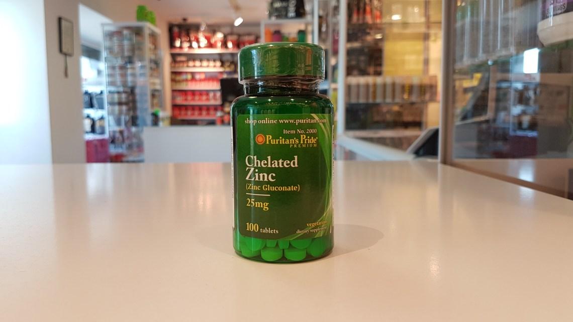 Chelated Zinc - Puritan's Pride Muscle Power Częstochowa - sklep z suplementami i zdrową żywnością
