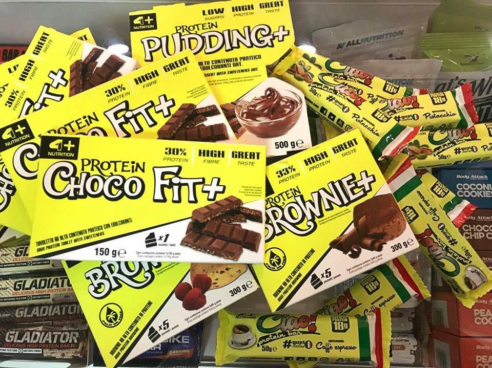Dietetyczne słodycze marki 4+ Nutrition.