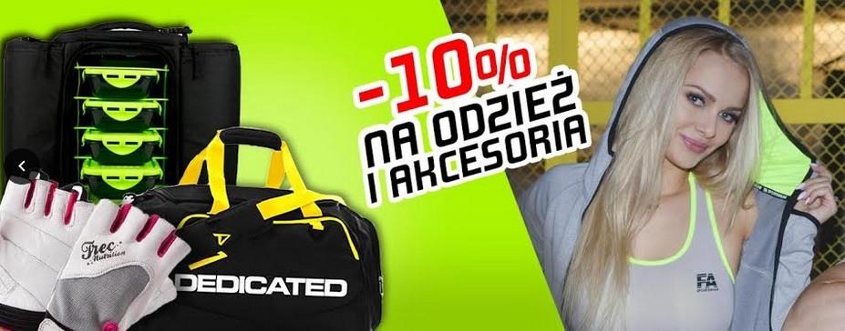 Rabat -10 % na akcesoria i odzież Muscle Power Częstochowa- sklep z odżywkami i zdrową żywnością