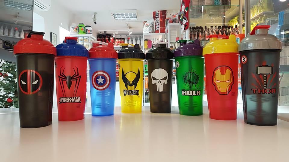 Shakery inspirowane postaciami z komiksów Marvela. Idealne na prezent. Muscle Power Częstochowa