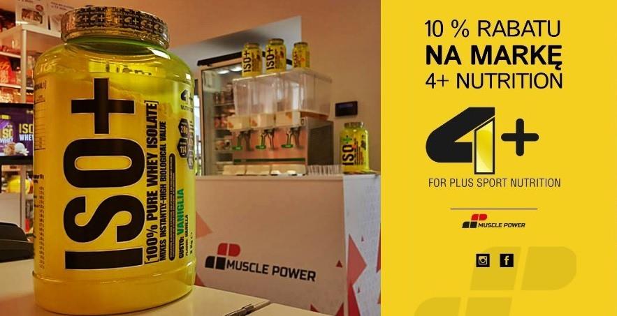 Darmowa degustacja odżywek włoskiej marki 4+ Nutrition w Muscle Power!