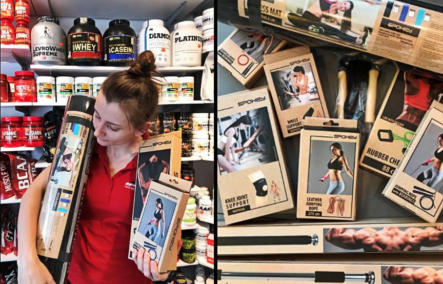 Akcesoria treningowe od firmy Spokey Muscle Power Częstochowa - sklep z odżywkami i zdrową żywnością