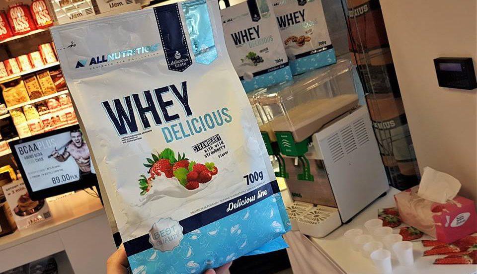 Degustacja odżywki białkowej Whey Delicious-AllNutrition Muscle Power Częstochowa