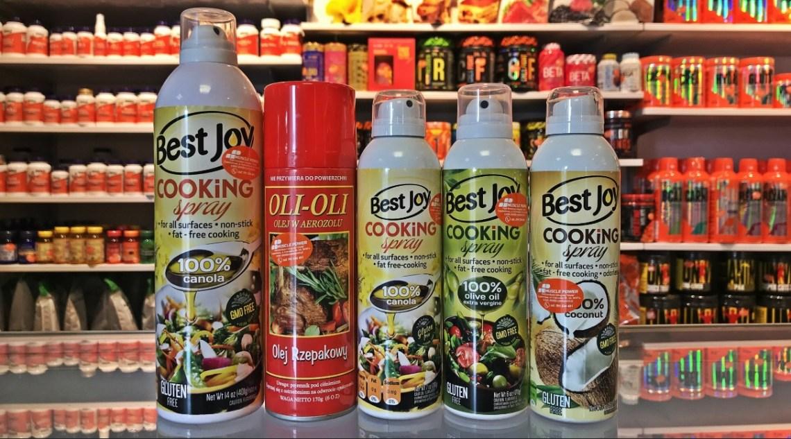 Oleje w sprayu- Best joy, global- olej rzepakowy, kokosowy, oliwa z oliwy- Muscle Power w Częstochowie